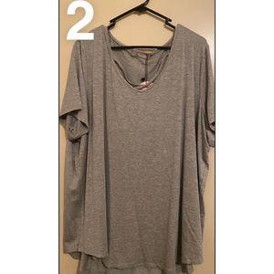 You + All grey marle size 22 v neck strap shirt